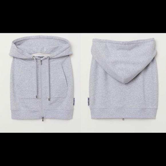 H&M Dresses & Skirts - Rare H&M Moschino sweatshirt skirt EUR 42 US 10
